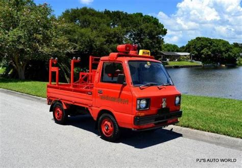 subaru pickup for sale 1986 subaru sambar 4x4 13 716 miles red pickup truck 544cc
