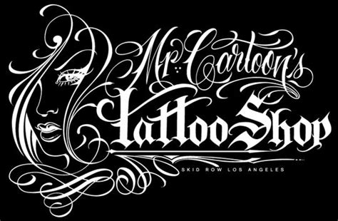 tattoo parlor font mr cartoon s tattoo shop logo typhography pinterest