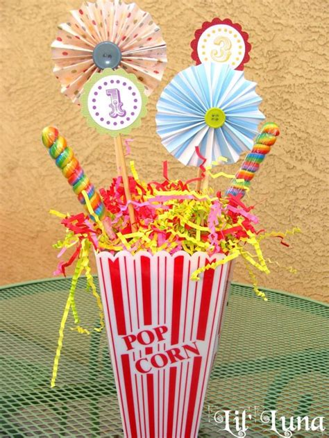 best 25 circus theme centerpieces ideas on