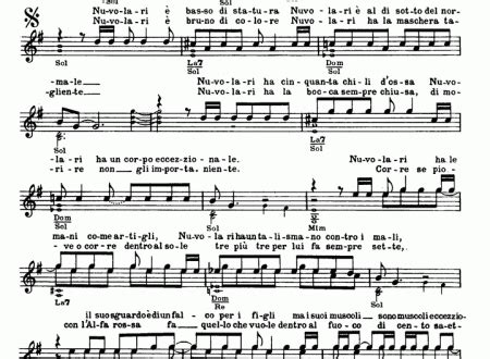 testo nuvolari francesco de gregori easy sheet