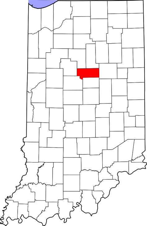 Howard County Search File Map Of Indiana Highlighting Howard County Svg Facts For Kidzsearch