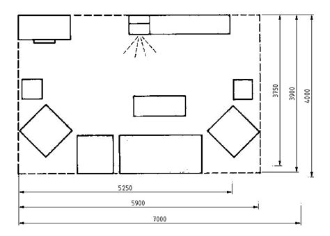 draw room dimensions data on living room layouts art of design