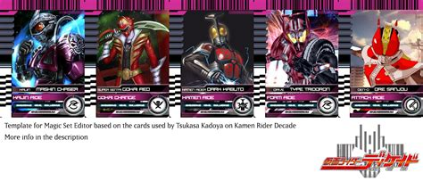 kamen rider decade magic set editor template by monyarm on