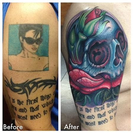 tattoo cover up london skull cover up tattoo by london reese tattoonow