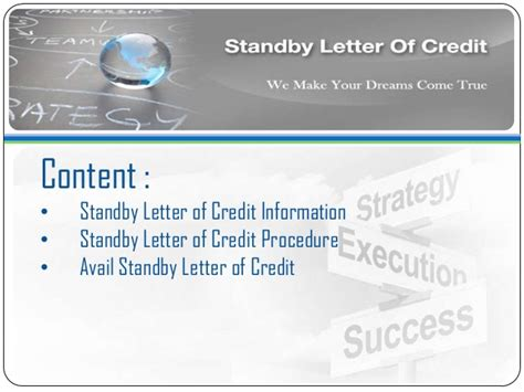 Standby Letter Of Credit Avail Standby Letter Of Credit Sblc Bronze Wing Trading
