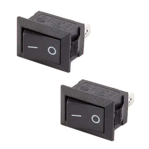 l on off switch 2x spst on off black square i o rocker switch mini small