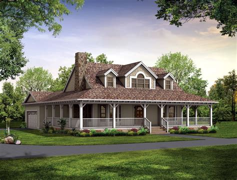 house plan with wrap around porch 3 country house