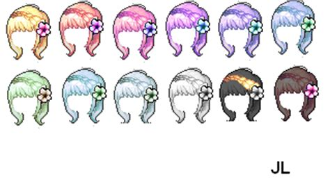 maplestory how to get conflict hairstyle maplestory mixed hair spring by jennilols on deviantart