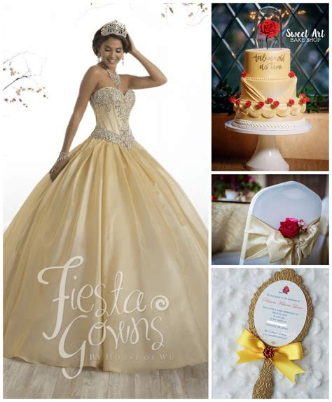 quinceanera themes beauty and the beast 10 beauty and the beast inspired quinceanera dresses