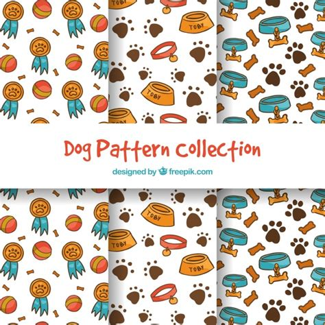 pattern collection download funny dog pattern collection vector free download