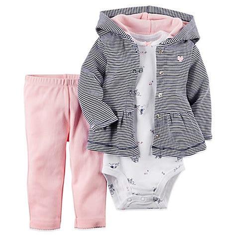 S 3 Babyboy Bodysuit And Pant Set Cs074 s 174 3 hoodie bodysuit and pant set in navy pink buybuy baby