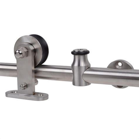 sliding door track kit 6 6ft modern sliding door hardware kit stainless steel