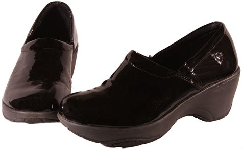 slip resistant clogs for womens mates bryar leather or patent leather slip resistant