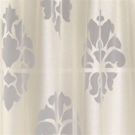ivory damask curtains ivory damask burnout sheer curtain world market