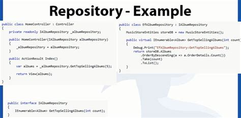 c repository pattern query repository pattern and generic repository pattern