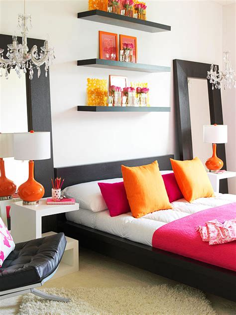 Modern Bedroom Orange Pink And Orange For A S Bedroom Driven By Decor