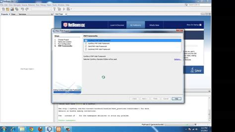 tutorial symfony2 netbeans setting up symfony framework in windows using netbeans and