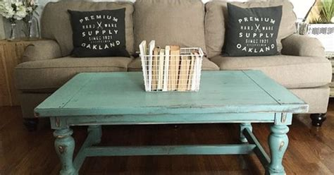 Turquoise Ottoman Coffee Table Turquoise Distressed Rustic Wood Coffee Table 48x27x19h