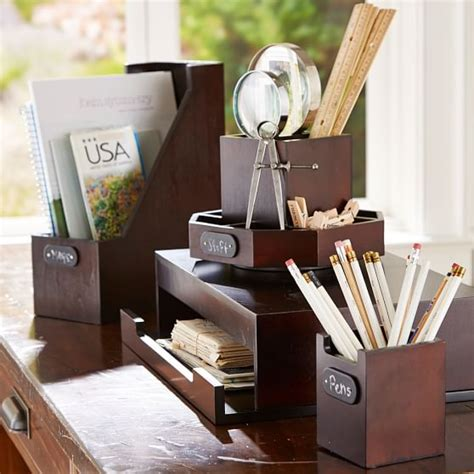 wood desk accessories wooden desk accessories pbteen