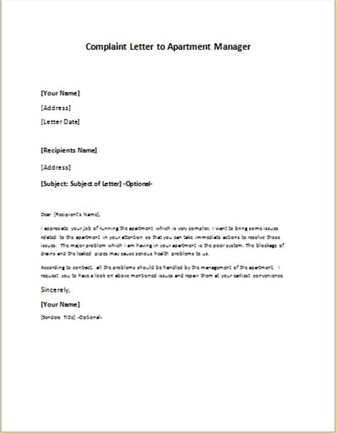 Complaint Letter Manager Formal Official And Professional Letter Templates Part 14