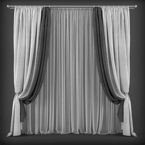 model curtains curtain 3d model 126 3d model max obj fbx cgtrader com