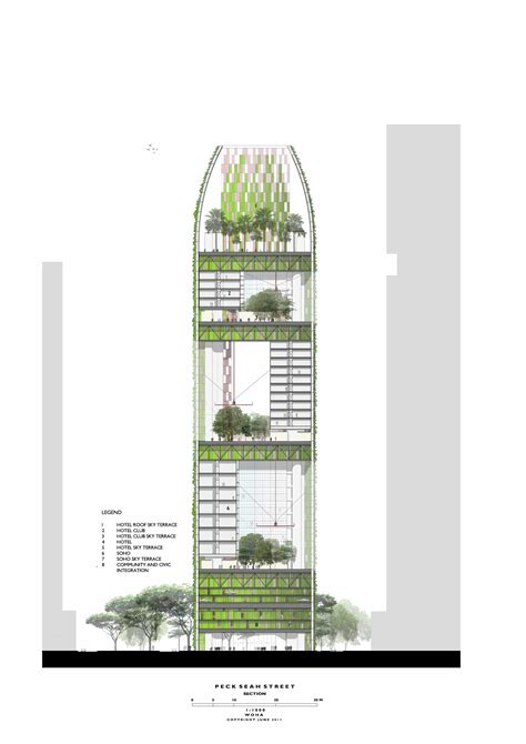 Building Plan Drawing oasia downtown woha archdaily
