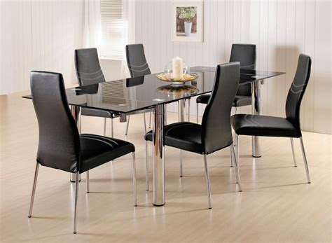 rectangle glass dining room tables rectangle glass dining tables glass dining room sets