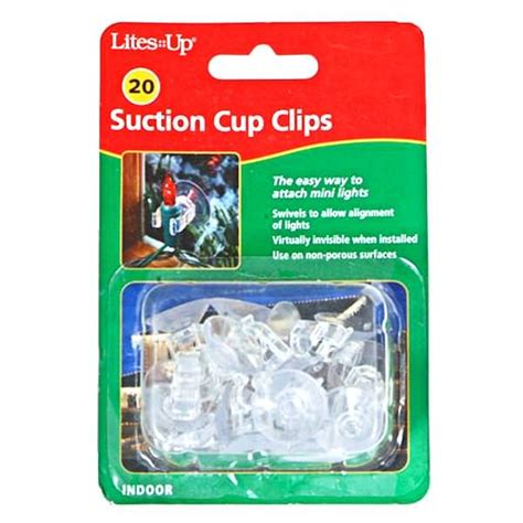 sterling 00169 mini lights suction cup clips 20 pack