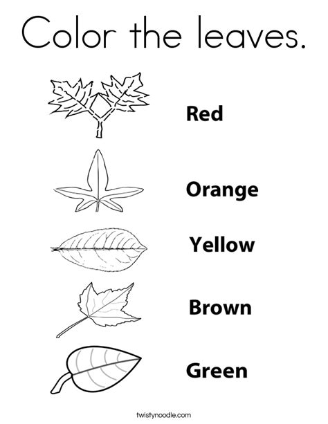 green leaf coloring pages the leaf is green coloring page twisty noodle coloring