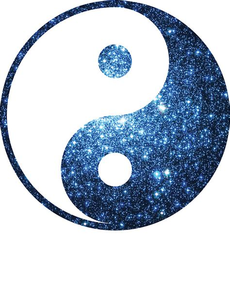 Removable Christmas Wall Stickers quot blue cluster galaxy yin and yang symbol quot stickers by