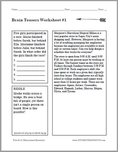 printable ear puzzle brain teasers for kids puzzle worksheet 1 k 12