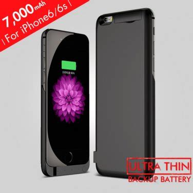 Sale Power 7000mah For Iphone 6 6s Ati1437 7000mah rechargeable backup power cover for iphone 6