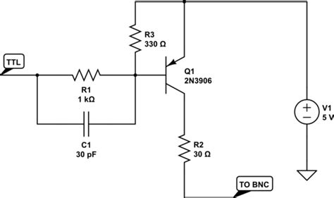 ttl transistor driver microcontroller turn ttl output of logic ic into output capable of driving 50 ohm devices