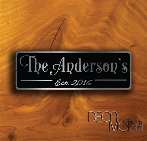 Handmade Family Name Signs - custom family name sign decamoda