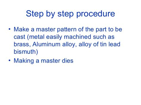 What Is Master Pattern In Casting | special casting processes
