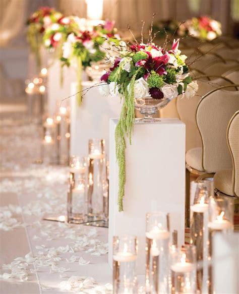 Wedding Ceremony Arrangements by 18 Pretty Ways To Decorate Your Ceremony Aisle Flower