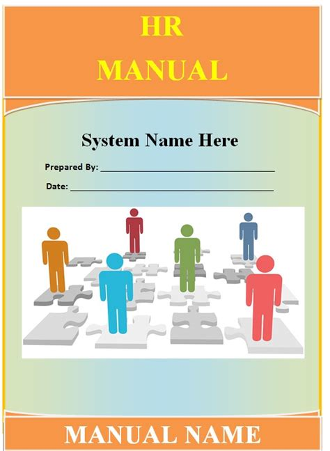 human resource manual template guide help steps