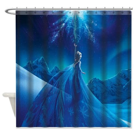 frozen shower curtain disney frozen snow queen elsa custom shower curtain 60 quot x