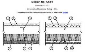 2 hour ceiling assembly ul g559 sure span 174 ul assemblies