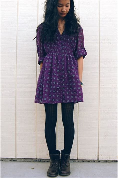 brown boots black tights purple blouses quot jet