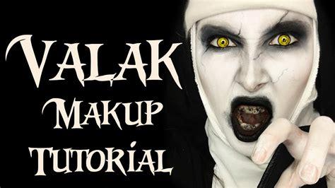tutorial makeup valak conjuring 2 demon nun valak makeup tutorial youtube