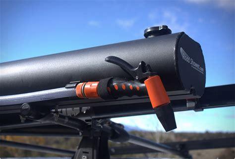 rack mounted solar shower