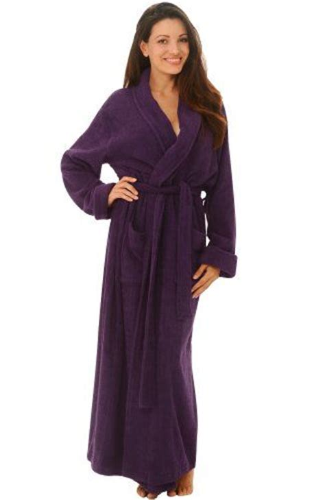 full length bathrobe women s luxurious terry cotton full length bathrobe robe