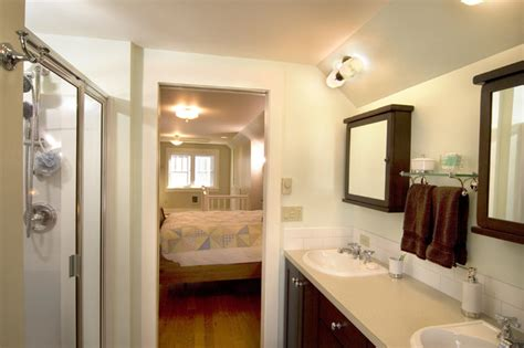 master bedroom bathroom attic remodel traditional