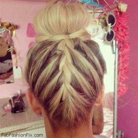 upside down v haircuts hair upside down french braid bun hairstyle tutorial