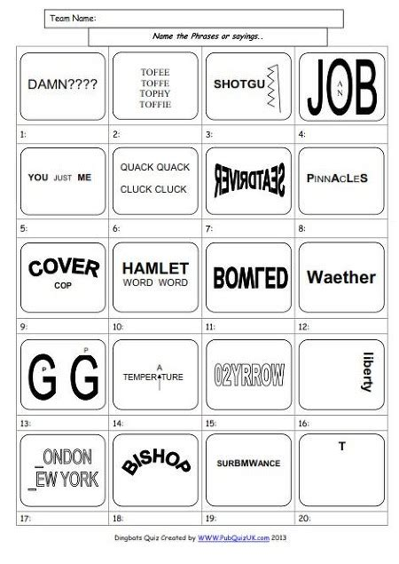 quiz questions dingbats dingbats with answers to print new calendar template site