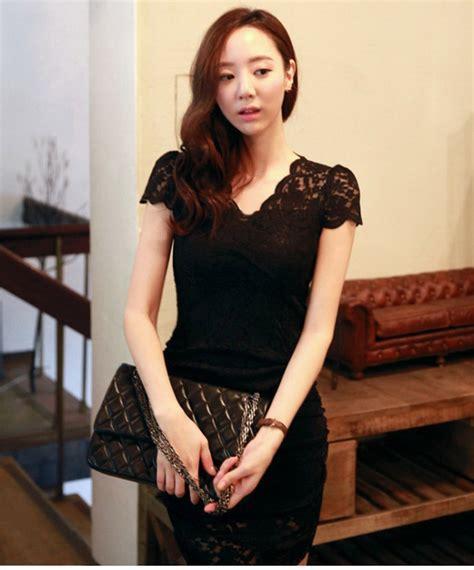 Ready Hitam Dress Kode 429 dress hitam brokat korea 2014 model terbaru jual murah
