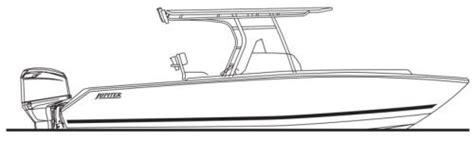 yellowfin boat drawing jupiter marine 26 2014 2014 reviews performance compare