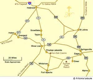 of arizona maps arizona white mountains map directions to the white