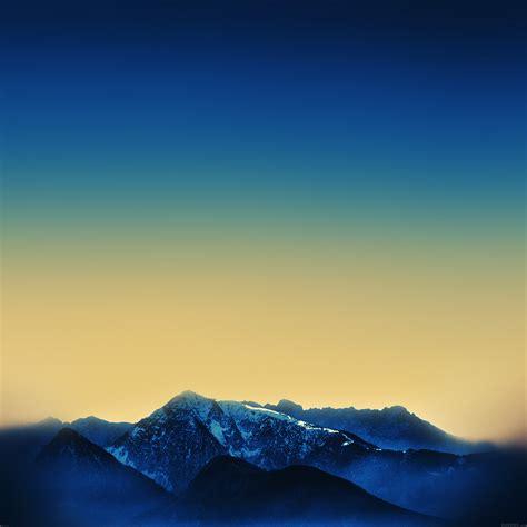 af ipad air  dark blue wallpaper official mountain
